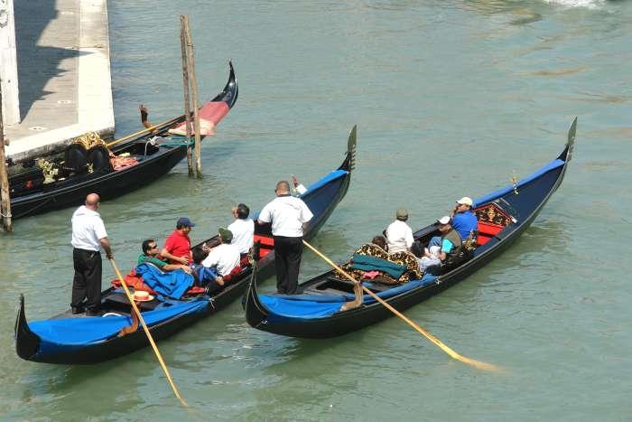 Venedig Gondel Fahren