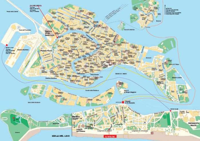 Venedig Karte.Karte Lido Venedig Hanzeontwerpfabriek
